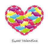 Sweet Valentines Day card Stock Image