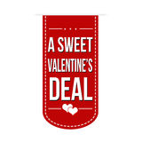 A sweet Valentines deal banner Stock Images