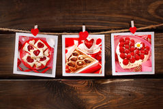 Sweet valentines party Stock Image