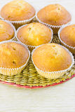 Sweet vanilla domestic cakes Stock Images
