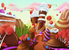 Sweet vector background Stock Photography