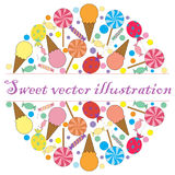A sweet vector card for your text Stock Photos