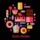 Sweet vector collection. Stock Image