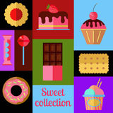 Sweet vector collection. Royalty Free Stock Photo