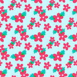 Sweet vector pattern with small flower Stock Photo