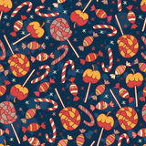 Sweet vector seamless pattern Stock Images