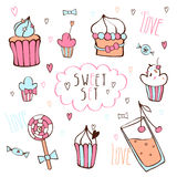 Sweet vector set. Royalty Free Stock Photo