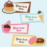 Sweet vector sticker set Stock Photos