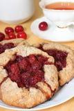 Sweet vegan pastry with cherry Stock Photos