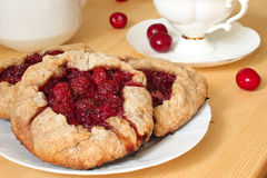 Sweet vegan pastry with cherry Royalty Free Stock Photos
