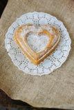 Vegetarian coockie in form of heart. Sweet Vegetarian coockie in form of heart Stock Images