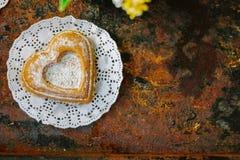 Vegetarian coockie in form of heart. Sweet Vegetarian coockie in form of heart Stock Photos