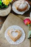 Vegetarian coockie in form of heart. Sweet Vegetarian coockie in form of heart Stock Image