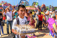 Sweet vendor, Giant kite festival, All Saints' Day, Guatemala Royalty Free Stock Photography