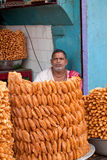 A Sweet Vendor in Puri Royalty Free Stock Photo