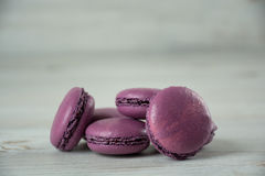 Sweet violet french macaroons Royalty Free Stock Photo