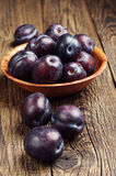 Sweet violet plums Stock Photo