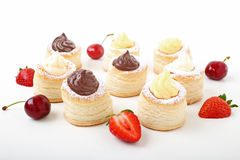 Sweet vol-au-vent Stock Image