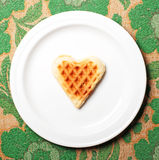 Sweet wafer heart Royalty Free Stock Photos