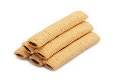 Sweet wafer rolls Royalty Free Stock Photos