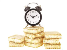 Sweet wafer time Royalty Free Stock Photo