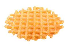 Sweet wafers on white Stock Image