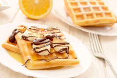 Sweet waffels Stock Images