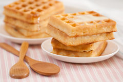 Sweet waffle Stock Image