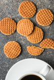 Sweet Waffle Biscuits Royalty Free Stock Image