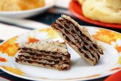 Sweet waffle cakes Royalty Free Stock Image