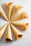 Sweet waffle cone ice cream Royalty Free Stock Photography