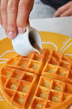 Sweet waffle Royalty Free Stock Photo