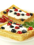 Sweet waffles Royalty Free Stock Photography