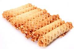 Sweet waffles. Royalty Free Stock Photography