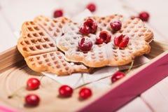 Sweet waffles Stock Image