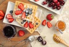 Sweet waffles Stock Photo