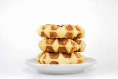 Sweet waffles Royalty Free Stock Photos