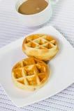 Sweet waffles Royalty Free Stock Photo