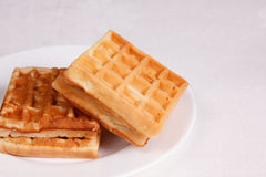 Sweet waffles Royalty Free Stock Image