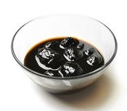 Sweet walnut jam for dessert in the transparent glass bowl with Stock Photography