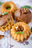 Sweet walnut muffins Royalty Free Stock Images