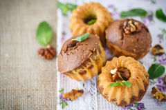 Sweet walnut muffins Royalty Free Stock Photography