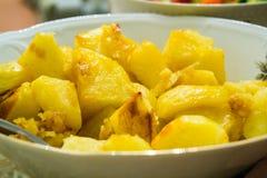 Sweet warm home made potatoes Stock Photos