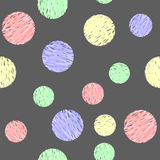 Sweet Watercolor Bubbles. Seamless Texture for background image Stock Images