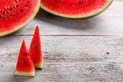 Sweet watermelon slices Stock Photography