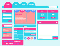 Sweet web design elements. Icon,tab,chat bar etc Royalty Free Stock Images