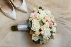 Sweet wedding Bouquet of the Bride Royalty Free Stock Image