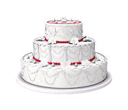 Sweet wedding cake Stock Images