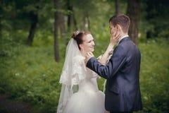 Sweet wedding couple Stock Photography
