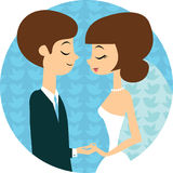Sweet wedding Royalty Free Stock Photography